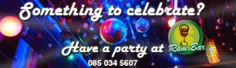 let Ram bar organise your party or event
