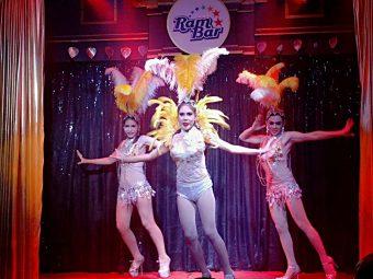 dancing girls at ram bar cabaret show